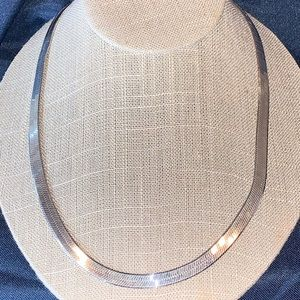 Sterling silver herringbone necklace 22 inches